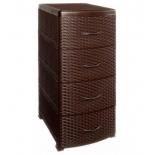 комод Violet Ротанг 0357/1 коричневый