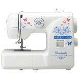 Швейная машина Jaguar Cinderella, белая с рисунком