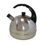 чайник для плиты Амет 1С44 Аша, серебристый/ черный