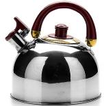 чайник для плиты Mayer & Boch МВ1069 (вишнёвая ручка)