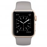 Умные часы Apple Watch Series 1 38mm  (MNNJ2RU/A) золотисто-серые