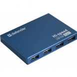 USB-концентратор Defender  SEPTIMA SLIM USB2.0 - 7 портов, + блок питания DC 5В...2А, + кабель USB 2.0 A