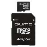 карта памяти Qumo microSDHC 8Gb Class6 + microSD-->SD Adapter