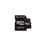 карта памяти Qumo microSDHC 4Gb Class4 + microSD-->SD Adapter
