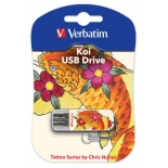 usb-флешка Verbatim 8Gb Store n Go Mini Tattoo Koi 49882 USB2.0, белая/узор