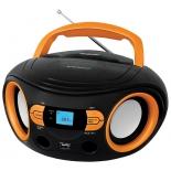 магнитола BBK BS15BT, черно-оранжевая
