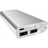 аксессуар для телефона Мобильный аккумулятор Asus ZenPower Ultra 20100 mAh ABTU008, серебристый