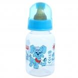 бутылка Lubby (с соской) веселые животные, голубой