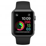 Умные часы Apple Watch Series 2 38mm, графит/черные