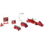 набор игровой Welly  Служба спасения - пожарная команда,  9 шт.