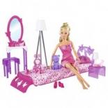 кукла Simba Штеффи в спальной комнате, с аксессуарами