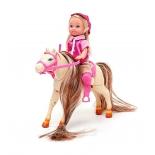 кукла Еви на прыгающей лошади (12 см)