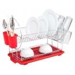 сушилка для посуды Zeidan Z-1185 красная