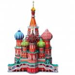набор игровой для игры на улице CubicFun  (пазл) Собор Василия Блаженного (Россия)