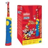 зубная щетка Oral-B Mickey Kids, голубая/желтая