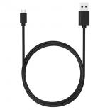 кабель (шнур) Qumo U-mUR1mb (USB - microUSB, 1 м), чёрный
