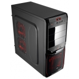 корпус Aerocool V3X Advance Devil Red Edition, ATX, 600Вт, USB 3.0