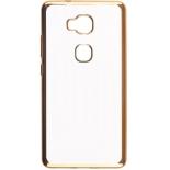 чехол для смартфона skinBOX silicone chrome border 4People для Huawei Honor 5X (золотистый)