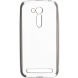 чехол для смартфона skinBOX silicone chrome border 4People для Asus ZenFone Go ZB500KL (серебристый)