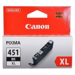 картридж Canon CLI-451BK XL Чёрный 11 мл (для iP7240, MG5440, MG6340, MG6440, MG7140, MX924)