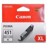 картридж Canon CLI-451GY XL (серый, 11 мл, для iP7240, MG5440, MG6340, MG6440, MG7140, MX924)