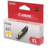 картридж Canon CLI-451Y XL, желтый (для Canon Pixma iP7240, MG5440, MG5540, MG6340, MG6440, MG7140, MX924)[695 страниц]