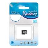 Карта памяти MicroSDHC 4Gb class 10 Smartbuy, купить за 315руб.