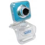 web-камера CBR CW-834M, универс. крепление, 4 линзы, 1,3 МП, эффекты, микрофон, CW 834M, синяя