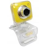 web-камера CBR CW-834M, универс. крепление, 4 линзы 1,3 МП, эффекты, микрофон, CW 834M, жёлтая