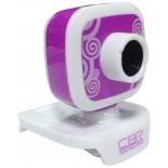 web-камера CBR CW-835M, универс. крепление, 4 линзы, 1,3 МП, эффекты, микрофон, CW 835M, сиреневая