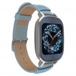 Умные часы Asus ZenWatch 2 WI502Q Swarovski, серебристо-синие