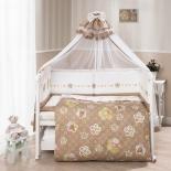 аксессуар к детской кроватке Perina Тиффани Цветы Комплект 7 предметов  Кофе-молочный