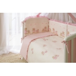 аксессуар к детской кроватке Perina КПБ 4 предмета Тиффани Неженка розовый
