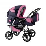 коляска AroTeam Lex 2 PC 89, графит+розовая