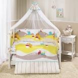 аксессуар к детской кроватке Perina КПБ 4 предмета Кроха  Веселый Кролик белый