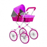 транспорт для кукол Кукольная коляска RT Фуксия, розово-серая