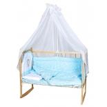 детское постельное белье Балу КПБ Ежик Васютка голубое