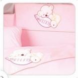 аксессуар к детской кроватке Tuttolina Sleeping Bear 3HD (3 предмета) розовый