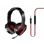 гарнитура для пк A4-Tech Bloody G500, чёрно-красная (проводная, 2.0ch, 20-2000 Гц, микрофон 50-16000 Гц, провод 2.2м, miniJack)