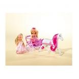 кукла Simba Две Еви-принцессы и лошадь с каретой