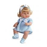 кукла Arias блондинка в голубой одежде с бантом