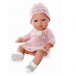 кукла Arias в розовой одежде (вязаное платье и шапочка)
