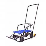 товар для детей Снегомобиль Snow Galaxy Black Auto синие рейки на больших мягких колесах