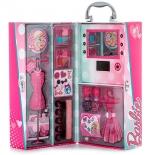 набор игровой Markwins Barbie 9601051 детской декоративной косметики в чемодане