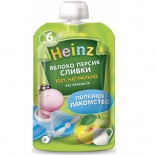пюре Heinz, яблоко, персик, сливки (6 мес)