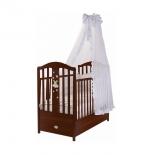 детская кроватка Feretti Romance, темный орех