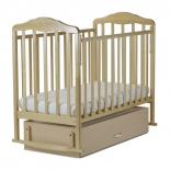 детская кроватка SKV company Березка ( поперечный маятник), береза