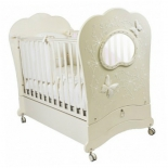 детская кроватка Feretti Charme Brillante (маятник), слоновая кость