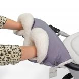 аксессуар к коляске Муфта для рук Esspero Soft Fur Lux серая