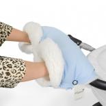 аксессуар к коляске Муфта для рук Esspero Soft Fur Lux светло-синий